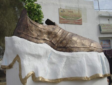 Now dismantled Shoe Monument in Tikrit