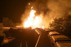 Freight Train Derails, Causing Explosion in OH