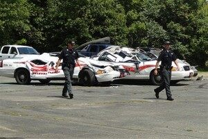 Police: Cop Cars Crushed By Angry Tractor Driver in VT