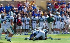 College Football Player Breaks Neck on Tackle