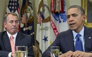 Obama, Boehner Talk Fiscal Cliff