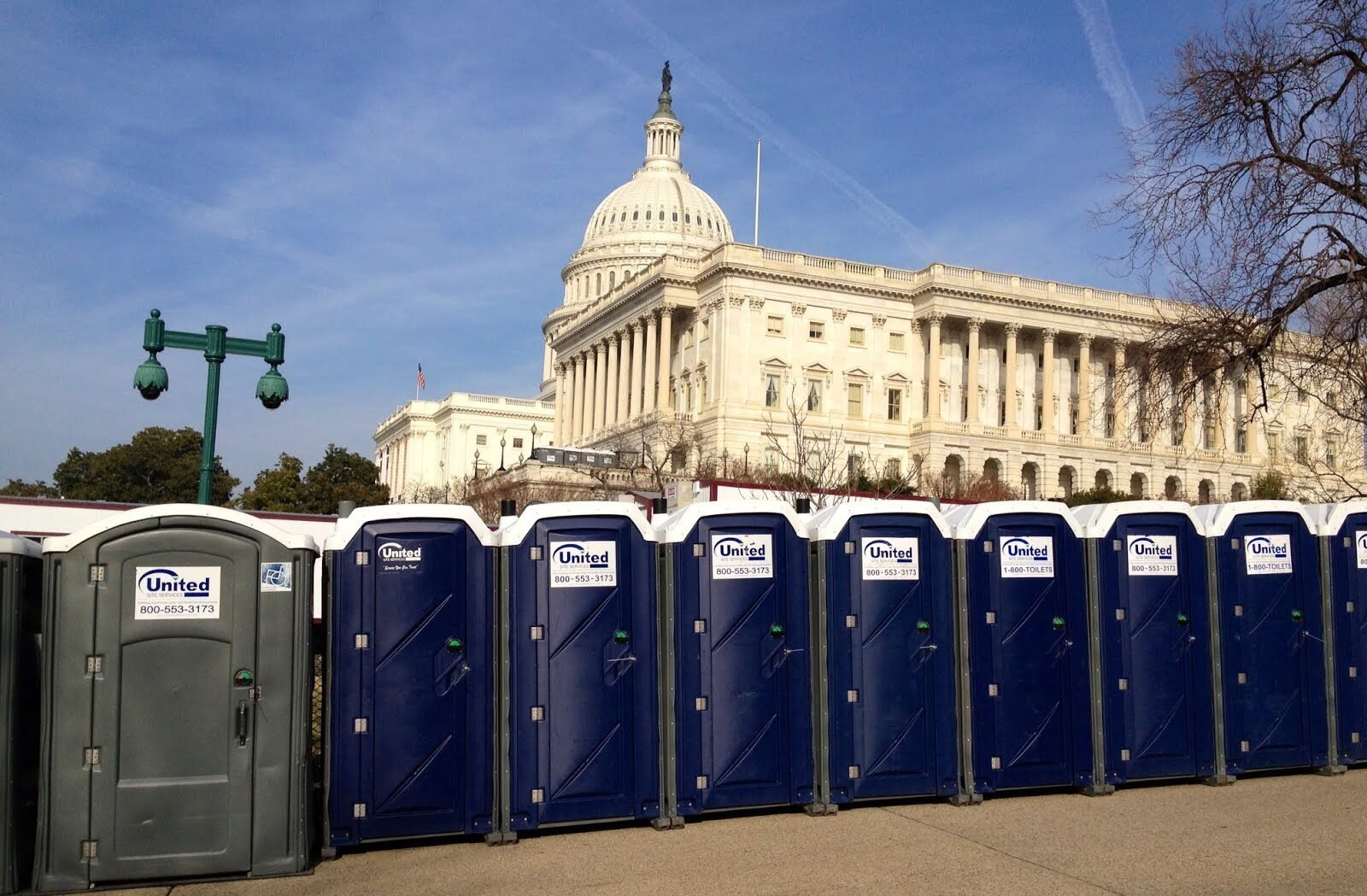 People porta potties travel to dc for inauguration news for Porta john rental