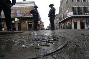 4 Shot on Bourbon Street During Mardi Gras Weekend