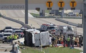 Deadly Overturned Bus Crash On TX Highway [VIDEO]