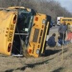 School Bus Overturns in Illinois