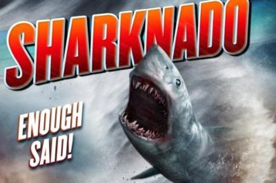 "Promotional poster for ""Sharknado.""(Sharknado / Syfy / July 11, 2013)"