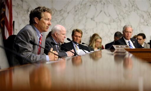 Rand Paul, John McCain, Jeff Flake, Ron Johnson