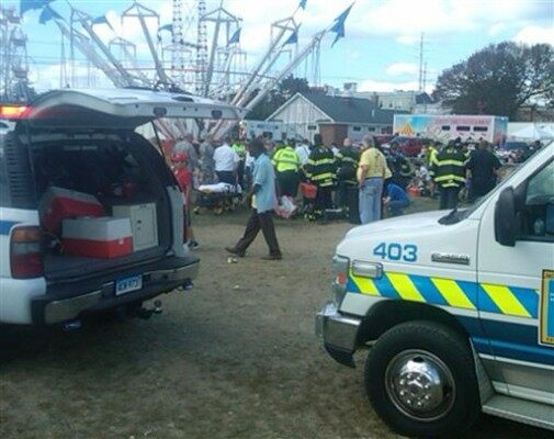 CORRECTION Festival Accident