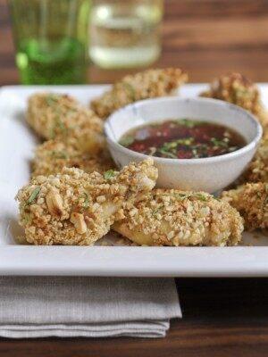 Peanut-crusted chicken wings from BOLD: A Cookbook of Big Flavors