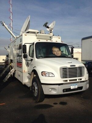 The FNC Sat Truck outside MetLife Stadium