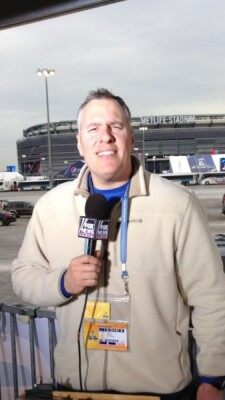 FNR's Jeff Monosso reporting from outside MetLife Stadium on Super Bowl Sunday