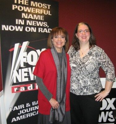 (Valerie Harper and FOX News Radio's Tonya J. Powers)