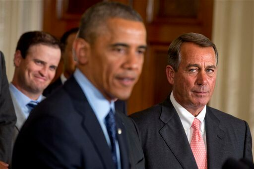 Barack Obama, John Boehner, Zach Johnson