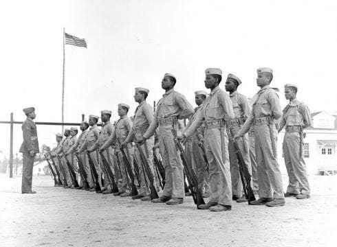 First black marine