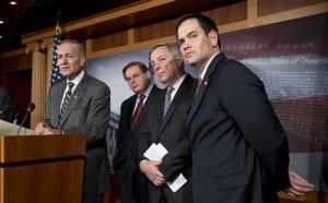 Charles Schumer, Marco Rubio, Robert Menendez, Dick Durbin
