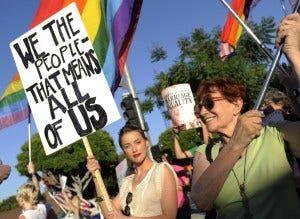 Same Sex Advocates Protest