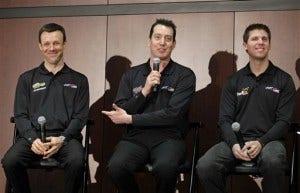 Kyle Busch, Matt Kenseth, Denny Hamlin