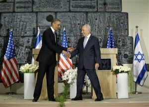 Barack Obama, Shimon Peres,