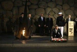 Barack Obama, Shimon Peres, Benjamin Netanyahu, Avner Shalev, Meir Lau