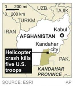 Afghanistan Chopper Crash