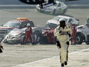 NASCAR Fontana Fall Out Auto Racing