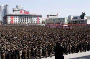 CORRECTION North Korea Rally