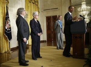 Barack Obama, Ernest Moniz, Sylvia Mathews Burwell