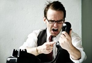 yelling-at phone