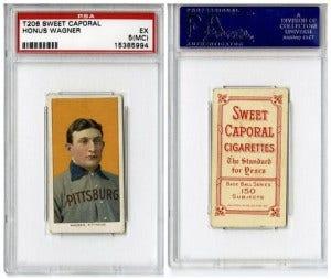 Honus Wagner Card Baseball