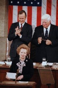 Margaret Thatcher, George Bush, Thomas P. O'Neill, Jr.