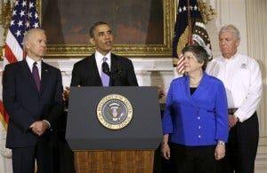 Barack Obama, Joe Biden, Janet Napolitano, RIchard Serino