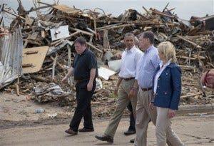 Barack Obama, Glenn Lewis, Tom Cole, Mary Fallin