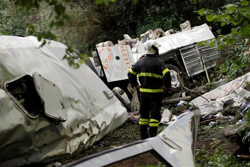 Italy Bus Plunges