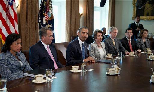 Barack Obama, Nancy Pelosi , John Boehner, Mitch McConnell, Dianne Feinstein, Susan Rice