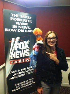 (Lolly Lardpop and FOX News Radio's Lauren Faulkner)