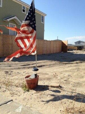 Flower pot and flag pic Rockaway