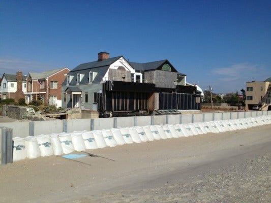 Rebuilding house on beach Rockaway