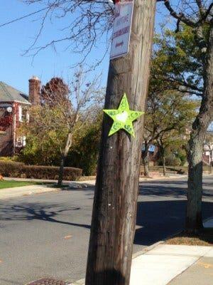 Star on pole Rockaway