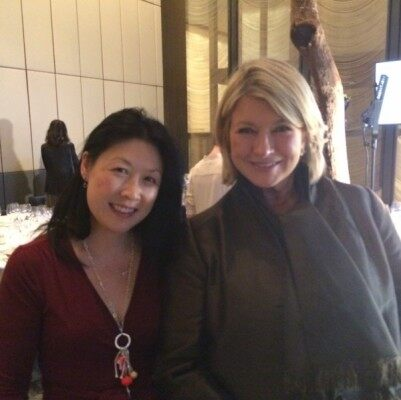 (FOX News Radio's Lilian Woo and Martha Stewart)