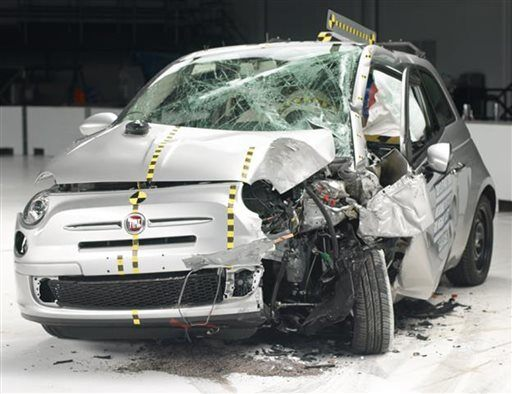 (AP Photo/Insurance Institute for Highway Safety)