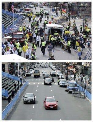 Boston Marathon Then And Now