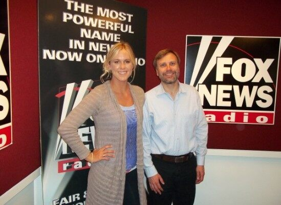 (Bethany Hamilton and FOX News Radio's Dave Anthony)