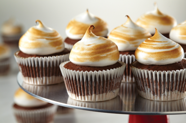 Toasted Marshmallow Cupcakes CakeBossBaking.com