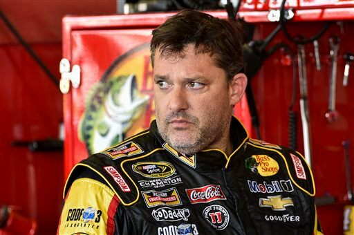 Tony Stewart Crash Auto Racing