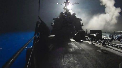 (AP Photo/U.S. Navy via AP video)