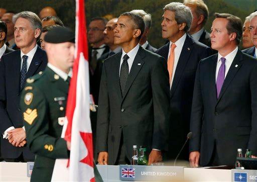 Barack Obama, Philip Hammond, John Kerry, David Cameron