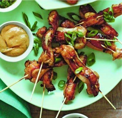 Chicken Bacon Satay