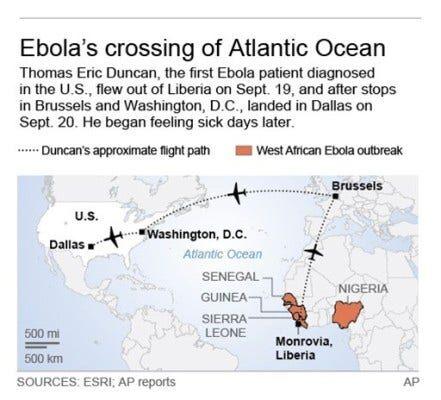 EBOLA US MAP