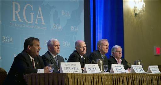Chris Christie, Mike Pence, Rick Scott, Larry Hogan, Bruce Rauner