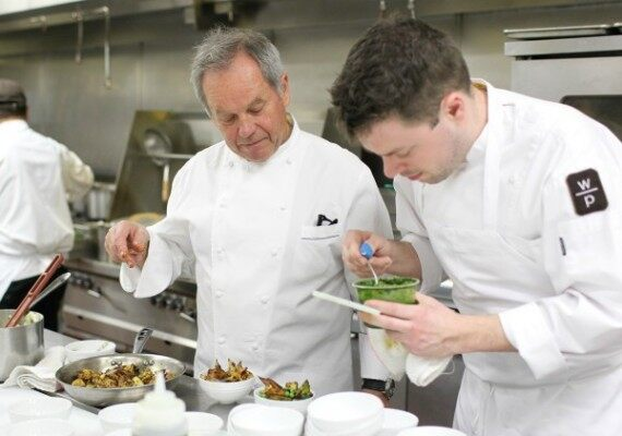 Chef Puck Cooking with Staff for Oscars in previous year.  Brandon Clark/ABImages